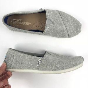 Toms Light Gray Slip On Flats